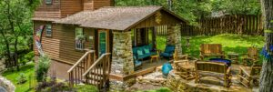 Walnut Cabin and fire-pit